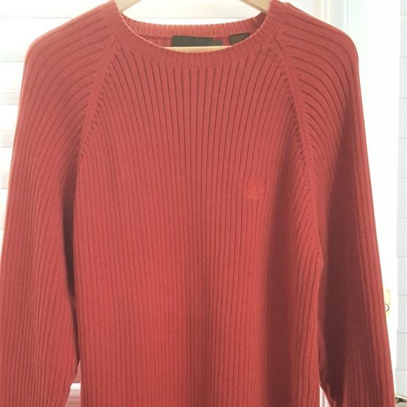 Timberland Sweaters Burnt Orange Sweater Mens Size L Poshmark